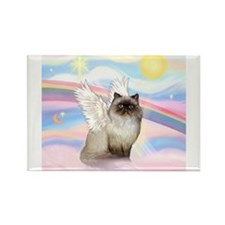 Clouds / Himalayan Cat Rectangle Magnet