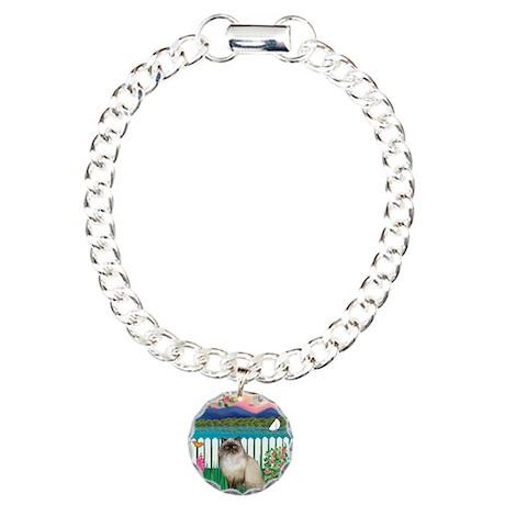 Garden Shore / Himalayan Cat Charm Bracelet, One C