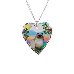 Bright Life / Himalayan Cat Necklace Heart Charm