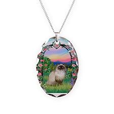 Rose Arbor / Himalayan Cat Necklace