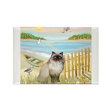 Rowboat / Himalayan Cat Rectangle Magnet