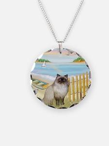 Rowboat / Himalayan Cat Necklace