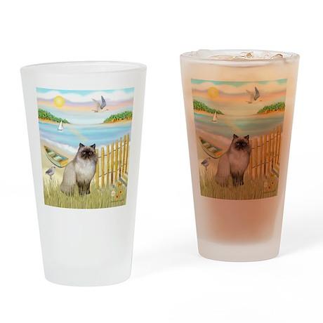 Rowboat / Himalayan Cat Drinking Glass