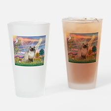 Cloud Angel & Himalayan (#1) Drinking Glass