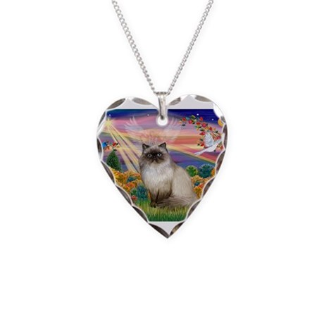 Autumn Angel Himalayan Necklace Heart Charm
