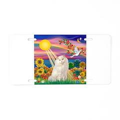 AutumnSun/White Persian Cat Aluminum License Plate