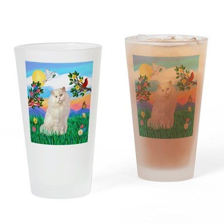 Bright Life / White Persian Drinking Glass