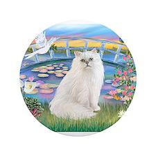 "Lilies & White Persian 3.5"" Button"
