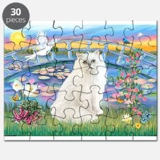 Lilies & White Persian Puzzle
