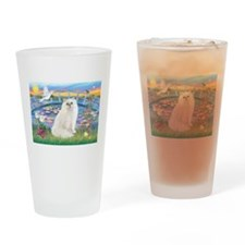 Lilies & White Persian Drinking Glass