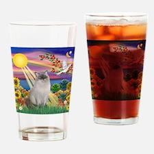 Autumn Sun / Ragdoll Drinking Glass