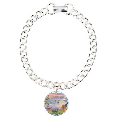 Cloud Angel & Ragdoll Charm Bracelet, One Charm