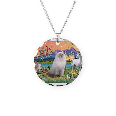 Fantayland / Ragdoll Necklace Circle Charm