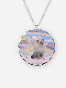 Ragdoll (#1) cat Angel Necklace