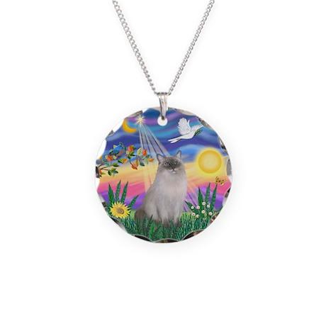 Twilight / Ragdoll Necklace Circle Charm