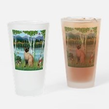 Birches / Siamese Drinking Glass
