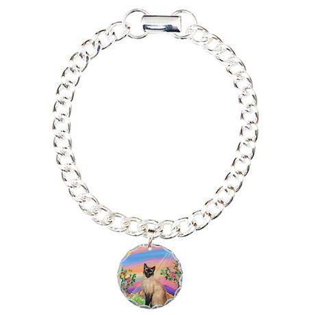 Day Star / Siamese Charm Bracelet, One Charm