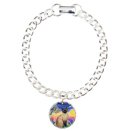 Twilight / Siamese Charm Bracelet, One Charm