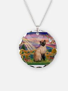 Autumn Angel & Siamese Necklace