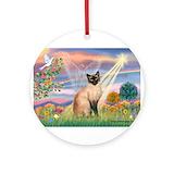 Siamese cat Round Ornaments