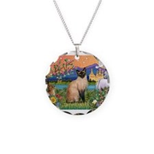 Siamese (1) in Fantasy Land Necklace