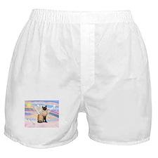 Siamese Cat Angel Boxer Shorts
