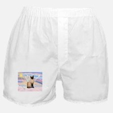 Siamese Cat Angel Boxer Shorts
