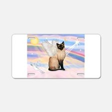 Siamese Cat Angel Aluminum License Plate