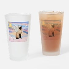 Siamese Cat Angel Drinking Glass