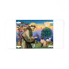 St Francis / Siamese Aluminum License Plate