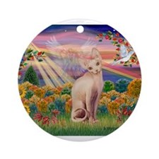 AUTUMN ANGEL Ornament (Round)