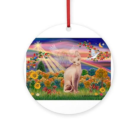 AUTUMN ANGEL Ornament (Round)
