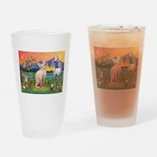 Fantasy Land Sphynx Cat Drinking Glass