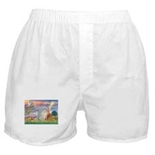 Cloud Angel & Sphnx cat Boxer Shorts