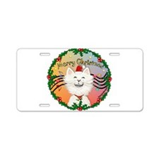 XMusic2-Cartoon Cat (W) Aluminum License Plate