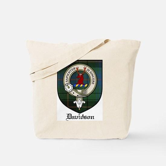 Davidson Clan Crest Tartan Tote Bag