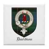 Davidson crest Tile Coasters