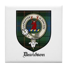 Davidson Clan Crest Tartan Tile Coaster