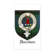 Davidson Clan Crest Tartan Rectangle Decal