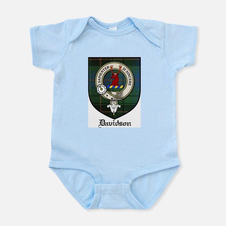 Davidson Clan Crest Tartan Infant Creeper