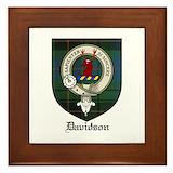 Davidson clan crest tartan Framed Tiles