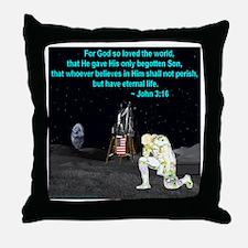 Moonbowing John 3:16 Throw Pillow