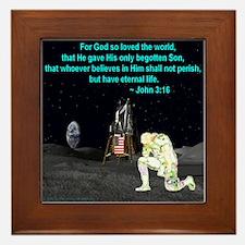 Moonbowing John 3:16 Framed Tile