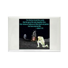Moonbowing John 3:16 Rectangle Magnet