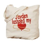 Jayden Lassoed My Heart Tote Bag