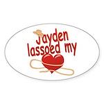 Jayden Lassoed My Heart Sticker (Oval)