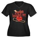 Jayden Lassoed My Heart Women's Plus Size V-Neck D