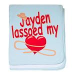Jayden Lassoed My Heart baby blanket