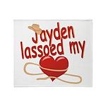 Jayden Lassoed My Heart Throw Blanket