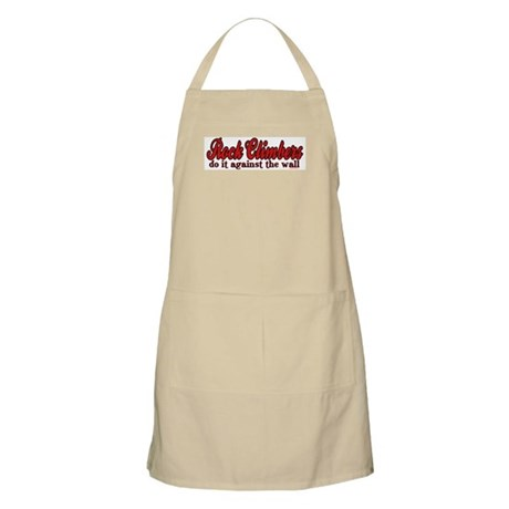 Rock Climbers Do It Against the Wall BBQ Apron